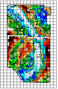 Variability map derived by an EM instrument.