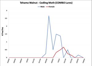2019 Codling Moth Trap Data - Tehama Co. Walnut