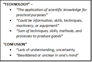 Figure 1. Technology and confusion are often experienced together.